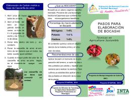 PASOS PARA ELABORACIÓN DE BOCASHI