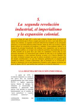 5. La segunda revolución industrial, el imperialismo y la expansión