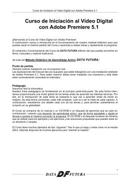 Curso de Iniciación al Vídeo Digital con Adobe Premiere 5.1