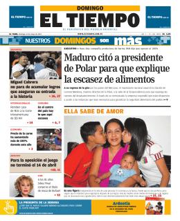Maduro citó a presidente de Polar para que explique la