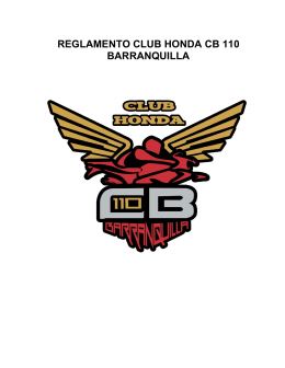 REGLAMENTO CLUB HONDA CB 110 BARRANQUILLA