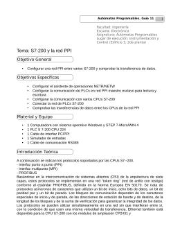 Tema: S7-200 y la red PPI
