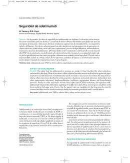 (15-24) Seguridad de adalimumab. M. Ferrán.qxp