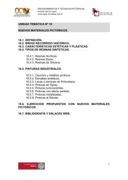unidad temática nº 16 nuevos materiales pictóricos. 16.1