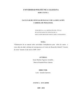 Elaboración de un manual sobre actividades grafoplásticas para