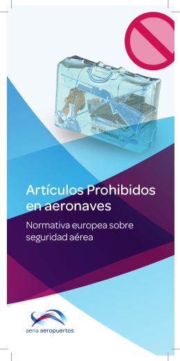 Folleto informativo: artículos prohibidos en aeronaves (PDF 2