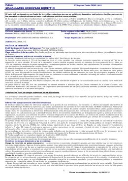 Folleto Completo Magallanes European Equity FI