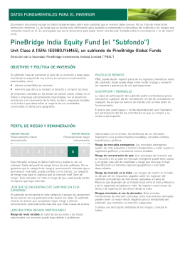 PineBridge India Equity Fund Unit Class A