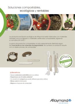 ARaymond Soluciones compostables, ecológicas y rentables