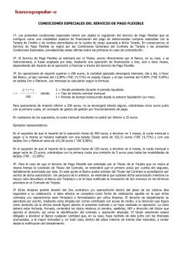FOLLETO INFORMATIVO DE CONDICIONES