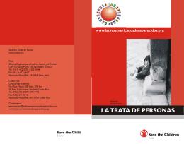 La trata de personas (Folleto)