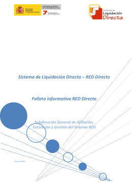 RED Directo Folleto informativo RED Directo