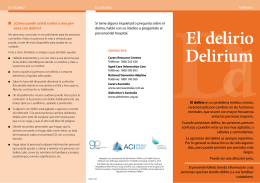 El delirio Delirium - Agency for Clinical Innovation
