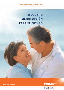 FOLLETO MODALIDADES DE PENSION