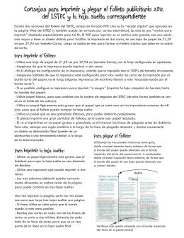 Consejos para imprimir el folleto de ISTEC PDF