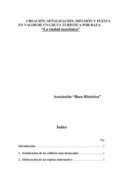 """""""La ciudad neoclásica"""" Asociación """"Baza Histórica"""