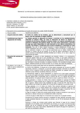 FOLLETO INFORMATIVO DE CONDICIONES - Bancopopular-e.