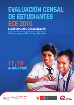 EVALUACIÓN CENSAL DE ESTUDIANTES ECE 2015