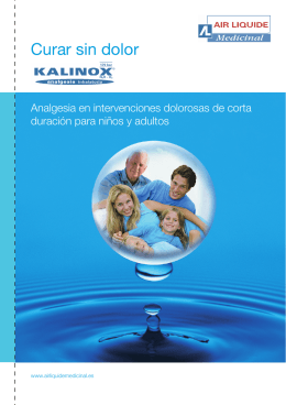 Folleto KALINOX - Air Liquide Medicinal