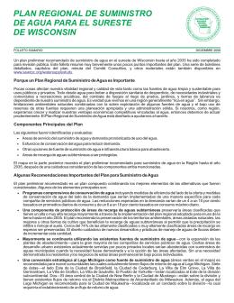 PLAN REGIONAL DE SUMINISTRO DE AGUA PARA EL