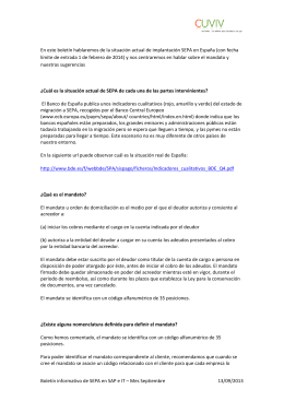 Boletín informativo de SEPA en SAP e IT – Mes Septiembre