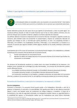 Folleto 3: ¿qué significa la formalización y qué - ITCILO E