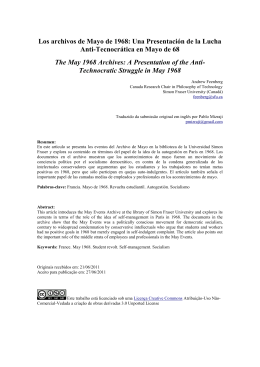 los archiv de mayo - Simon Fraser University