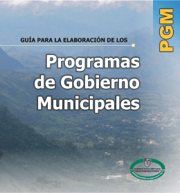 Guía para la elaboración de programas de gobierno municipales