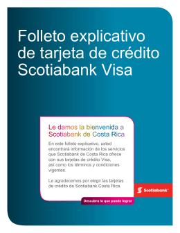Folleto explicativo de tarjetas de crédito Visa