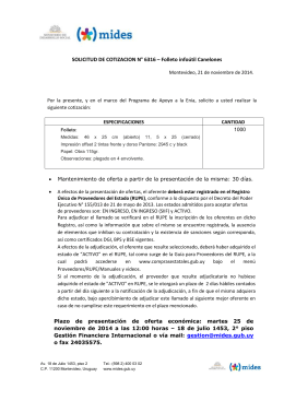 SOLICITUD DE COTIZACION N° 6316 – Folleto infoútil Canelones