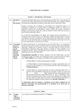 ESPECÈFICO DE LA EMISIÌN Sección A œ Introducción y