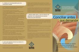 folleto conciliación - Procuraduría General de la Nación