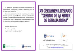 Folleto Certamen Literario 2014.