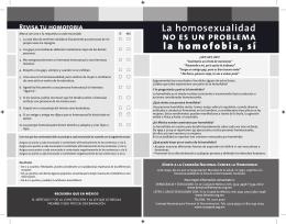 Folleto Campaña contra la Homofobia