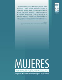 """Folleto """"MUJERES - PARTICIPACIÓN POLÍTICA EN MÉXICO 2012"""