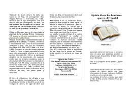 Folleto para los testigos de Jehova
