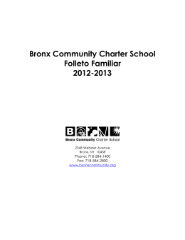 Bronx Community Charter School Folleto Familiar 2012-2013