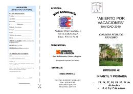 folleto navidad 2010
