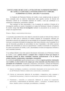 Folleto Bases - Fundación del Patrimonio histórico de Castilla y León