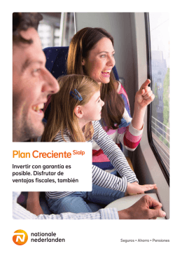 Folleto Plan Creciente Sialp - Nationale