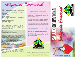 Folleto Inteligencia Emocional