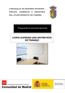 Folleto Entrevista - Ayuntamiento de Cobeña