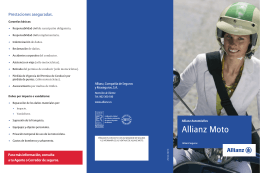 Folleto Allianz Moto