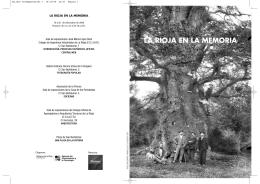 """Folleto de la Exposición """"La Rioja en la memoria"""""""