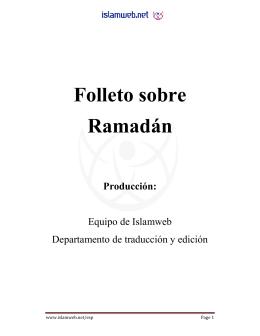 Folleto sobre Ramadán