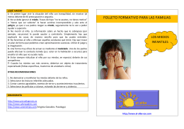 FOLLETO LOS MIEDOS INFANTILES