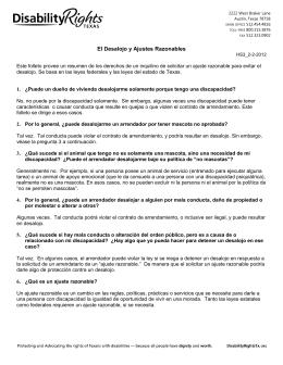 Bajar PDF: El Desalojo y Ajustes Razonables