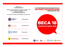 Folleto beca 18 - Pontificia Universidad Católica del Perú