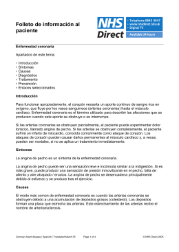 Folleto de información al paciente