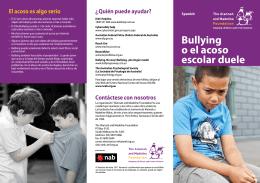 Bullying o el acoso escolar duele